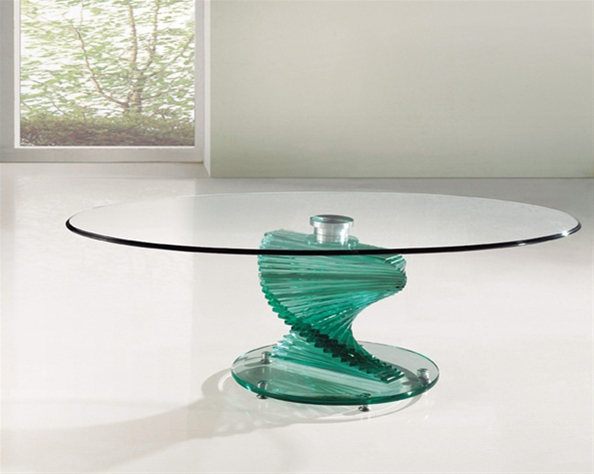 Twirl glass coffee table portofino glass coffee table Used glass coffee table