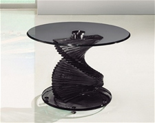 TWIRL SMOKED GLASS LAMP SIDE TABLE<br />