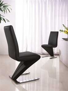 MODERN Z DESIGNER DINING CHAIRS (5 COLOURS) - G632