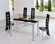 TORINO GLASS DINING TABLE