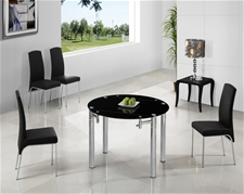JAVA ROUND EXTENDING GLASS TABLE
