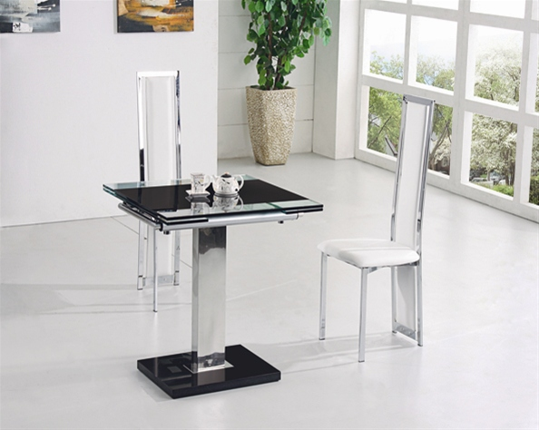 Gami Extending Glass Dining Table Dining Table And Chairs
