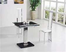 Glass Dining Table And Chairs Glass Table And Chairs - Small glass extending dining table