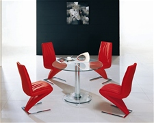 MINI ROUND GLASS DINING TABLE ONLY