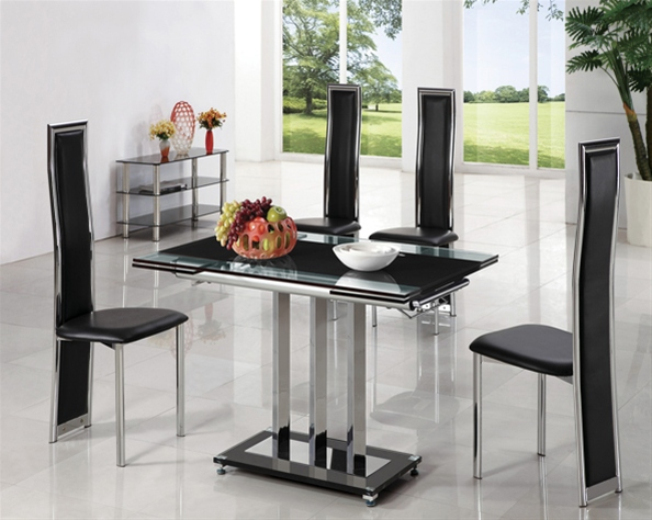 MANI EXTENDING GLASS TABLE
