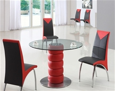 ZETA ROUND GLASS DINING TABLE AND CHAIRS<br />
