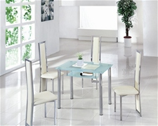 COMPACT SMALL GLASS DINING TABLE
