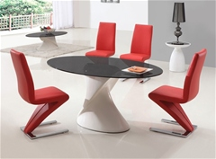DAKOTA GLASS DINING TABLE AND CHAIRS<br />