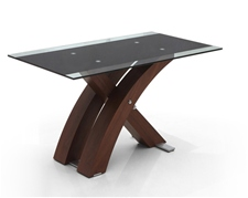 XANTA WALNUT GLASS DINING TABLE