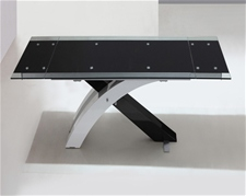 XANTA EXTENDING GLASS DINING TABLE