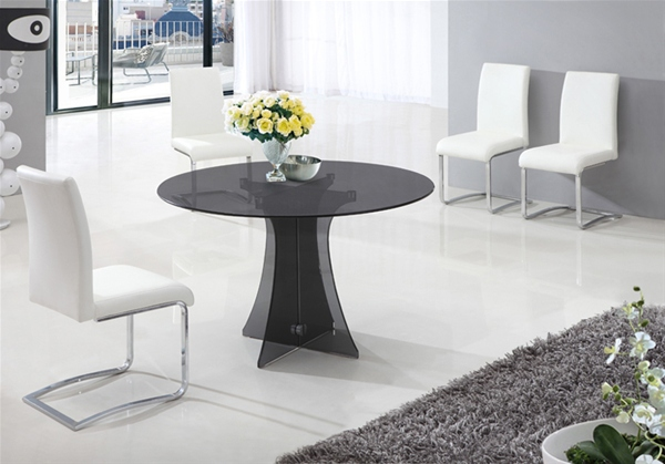 ASTORIA ROUND GLASS DINING TABLE