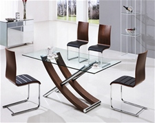 XANTOS GLASS DINING TABLE AND CHAIRS<br />