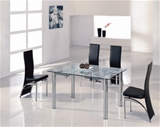JAVA EXTENDING GLASS DINING TABLE