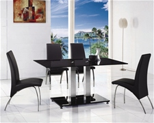 JET LARGE GLASS DINING TABLE