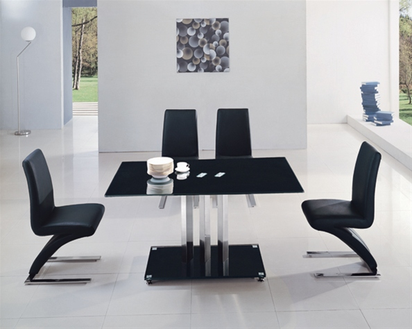 BLACK TRIXIE GLASS TABLE Dining Table and Chairs Dining Sets : 898 632 from www.diningtables.co.uk size 594 x 474 jpeg 96kB