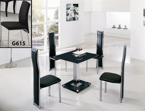 jet square glass dining table dining table and chairs. Black Bedroom Furniture Sets. Home Design Ideas