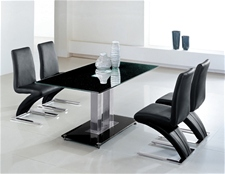 JET GLASS DINING TABLE AND 6 CHAIRS<br />
