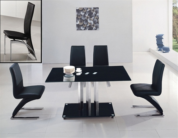 TRIXIE GLASS TABLE Dining Table and Chairs Dining Tables  : Trixie898DINGING501CHAIRS  from glassdiningtable.co.uk size 572 x 445 jpeg 91kB