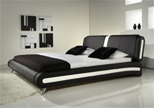 NAPLES MODERN DESIGNER LEATHER BED