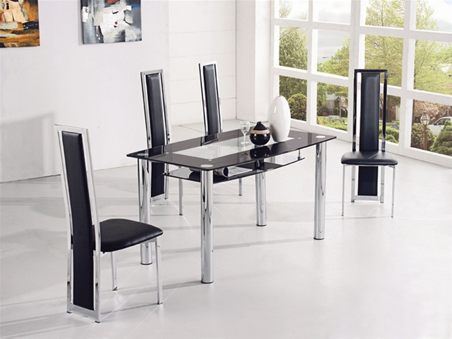 Compact dining table small dining table and chairs for Table cuisine 110 x 80