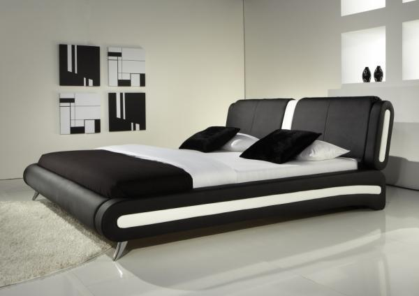 Naples Modern Leather Bed