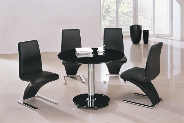 Mini Vo1 Round Glass Dining Table And Chairs Furniture Italia