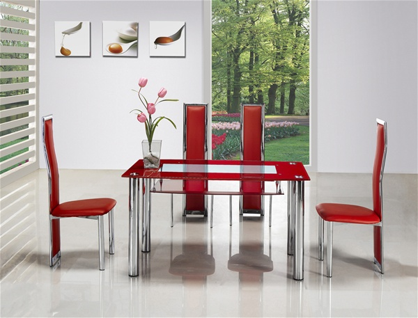 Rimini Compact Glass Dining Table Glass Dining Table And Chairs Dining Tables