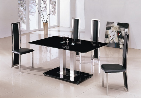 Small Black Glass Tables: Jet Arctic Vo1 Red Glass Dining Table, Glass Dining Table