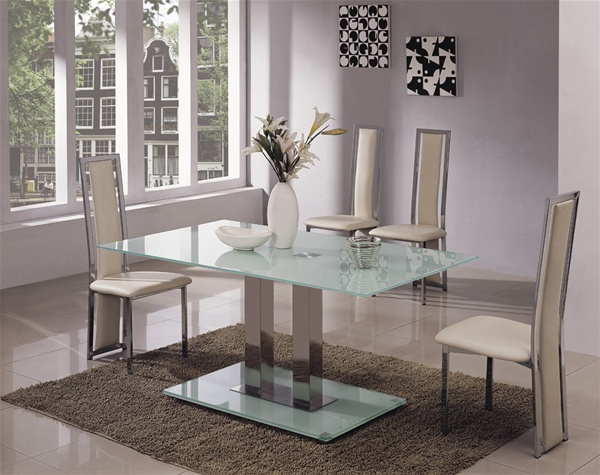 jet glass dining table and 6 chairs glass dining table and chairs set