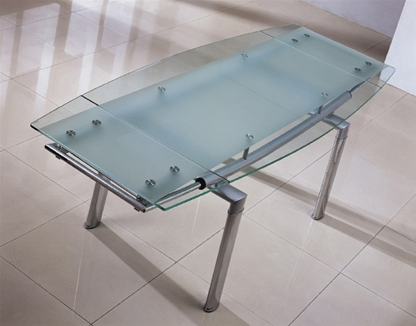 Delta Extending Glass Dining Table Dining Table And Chairs