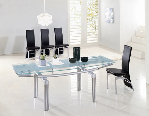 DELTA EXTENDING GLASS DINING TABLE Dining Table And Chairs Dining Tables
