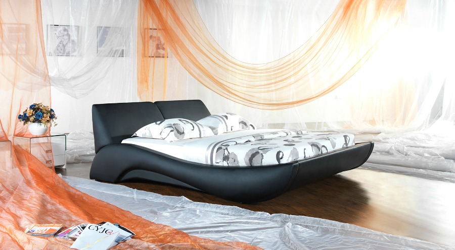 Deneli Exclusive Designer Leather Bed