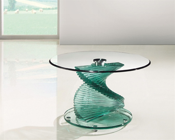 TWIRL GLASS LAMP TABLE