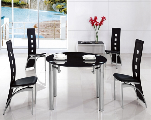 JAVA ROUND EXT. GLASS TABLE