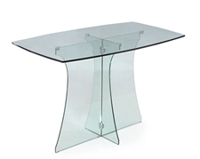 SERENE LARGE GLASS DINING TABLE