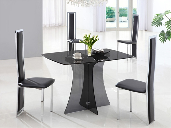 SERENE SMALL GLASS DINING TABLE