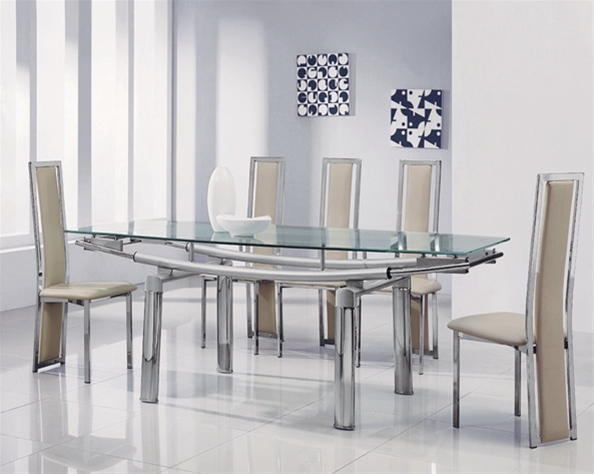Delta Mega Extending Glass Dining Table Glass Dining Table And Chairs