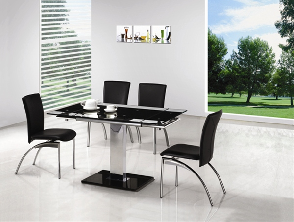 GAMI EXTENDING GLASS TABLE