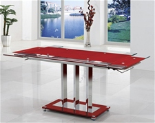 MANI EXTENDING GLASS DINING TABLE