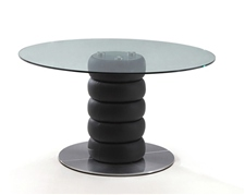 ZETA ROUND GLASS DINING TABLE