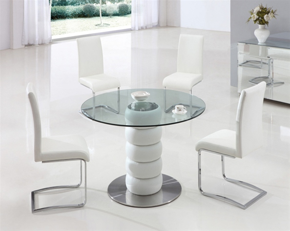 Zeta Round Glass Table