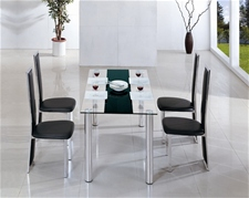 TORINO GLASS DINING TABLE AND CHAIRS<br />