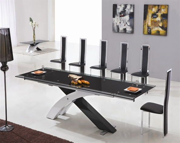 XANTA EXTENDING GLASS TABLE