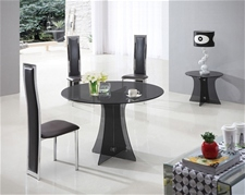 ASTORIA ROUND GLASS DINING TABLE AND CHAIRS<br />