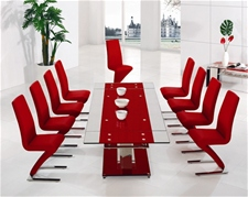 BASS LARGE EXTENDING GLASS DINING TABLE AND CHAIRS - From �699.00