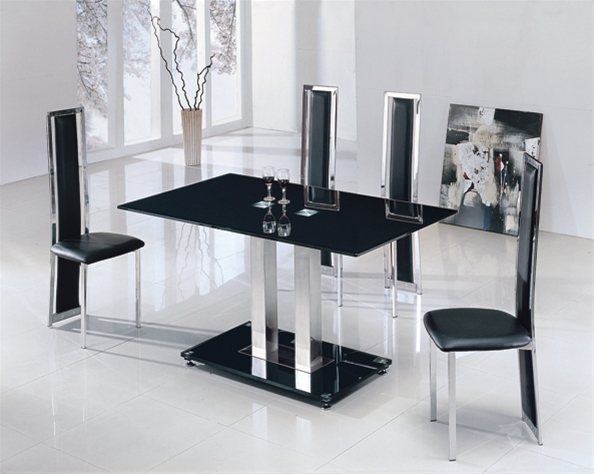 Jet Small Glass Table Dining Table And Chairs Dining Sets