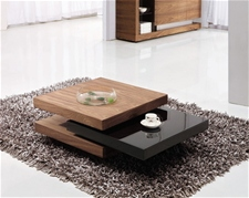 IVANA COFFEE TABLE WALNUT & BLACK<br />