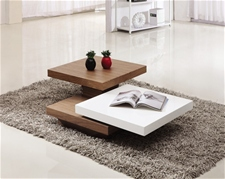 IVANA COFFEE TABLE WALNUT & WHITE<br />
