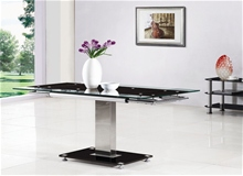 GAMI EXTENDING GLASS DINING TABLE