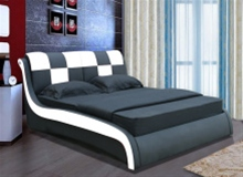 DOMINO DESIGNER LEATHER BED